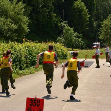 Staffellauftraining der Jugend