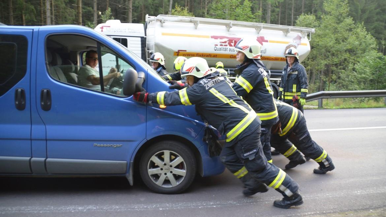 Glimpflicher Verkehrsunfall