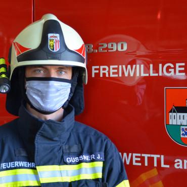 Schutzmasken für Einsatzmannschaft